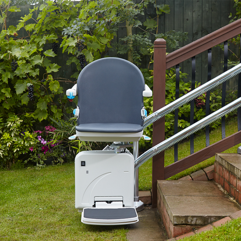 Kraus Handicare exterior outside outdoor stairlift are staircase chairlift stairlift chair