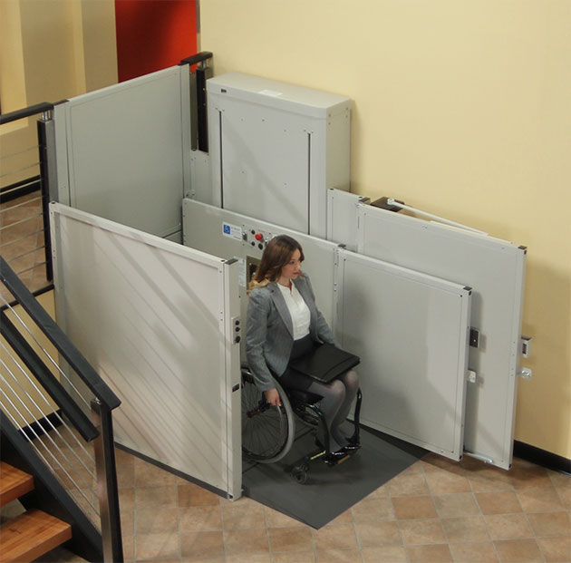 ada business restaurant wheelchair lift elevator vertical platform vpl porchlift