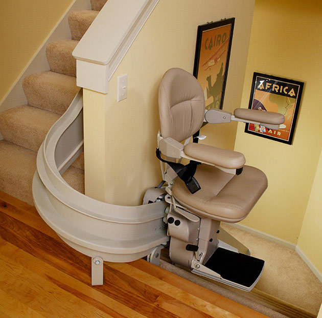 ELECTROPEDIC Bruno elite curved cre2110 stairchair lift stair chair