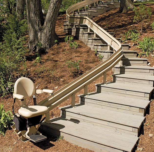 bruno outdoor CRE2110E outside curved exterior ELECTROPEDIC stairlift