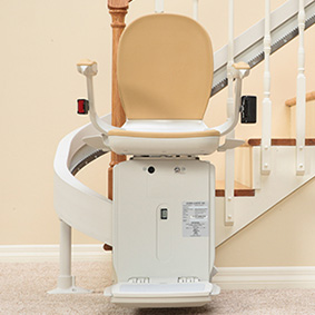 Riverside exterior stairchair & outside bruno curved outdoor stairlift