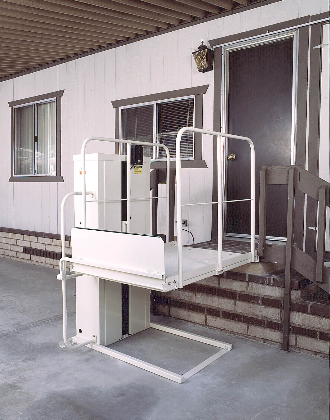 wheelchair porch car lift harmar wheelchair elevator lifts